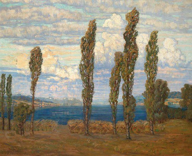 Helene Funke - Landschaft mit Pappeln