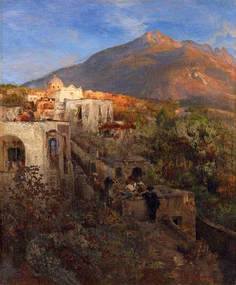 Oswald Achenbach - Abend auf Ischia