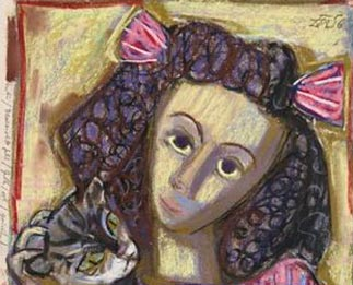 Otto Dix Mädchen mit Katze